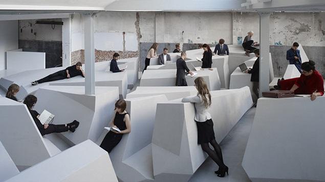 L open space sans bureaux de l agence raaaf archibat mag