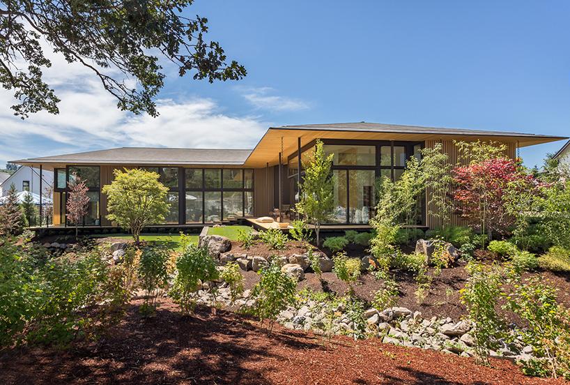 Un habitat en osmose avec la nature archibat mag for Habitat minimaliste
